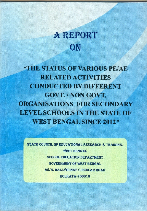 A REPORT ON THE STATUS VARIOUS PE AE RELATE0001_001